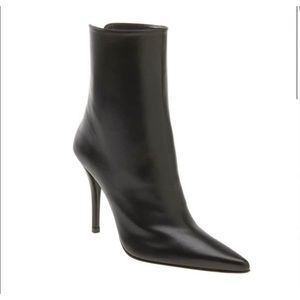 STUART WEITZMAN Leather Goliath Heel Booties